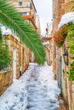 Sneeuw in Jeruzalem stock afbeelding