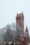 Sneeuw kerk Royalty-vrije Stock Foto