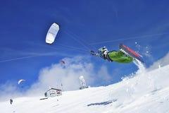 Sneeuw kiter Stock Foto's