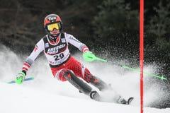 Sneeuw Koningin Trophy 2019 - Damesslalom stock afbeelding