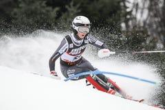 Sneeuw Koningin Trophy 2019 - Damesslalom stock foto's