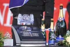 Sneeuw Koningin Trophy 2019 de ceremonie van de de Slalomtoekenning van Mensen royalty-vrije stock foto