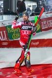 Sneeuw Koningin Trophy 2019 de ceremonie van de de Slalomtoekenning van Mensen stock afbeeldingen