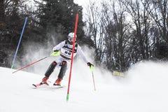 Sneeuw Koningin Trophy 2019 de Slalom van Mensen royalty-vrije stock afbeelding