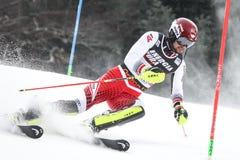Sneeuw Koningin Trophy 2019 de Slalom van Mensen stock afbeeldingen