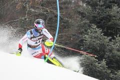Sneeuw Koningin Trophy 2019 de Slalom van Mensen stock foto