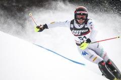 Sneeuw Koningin Trophy 2019 de Slalom van Mensen royalty-vrije stock afbeeldingen