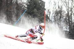 Sneeuw Koningin Trophy 2019 de Slalom van Mensen stock foto's