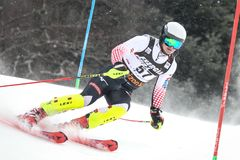 Sneeuw Koningin Trophy 2019 de Slalom van Mensen royalty-vrije stock foto's