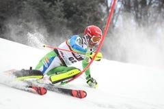 Sneeuw Koningin Trophy 2019 de Slalom van Mensen stock fotografie