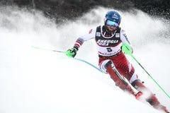 Sneeuw Koningin Trophy 2019 de Slalom van Mensen stock afbeelding