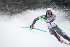 Sneeuw Koningin Trophy 2019 de Slalom van Mensen royalty-vrije stock foto