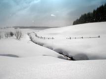 Sneeuw landschap Stock Afbeeldingen