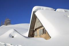 Sneeuw landschap in de bergen Stock Foto