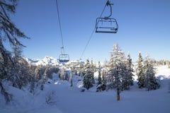 Sneeuw landschap in de bergen Royalty-vrije Stock Afbeelding