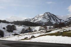 Sneeuw landschap in de Pyreneeën Royalty-vrije Stock Afbeelding