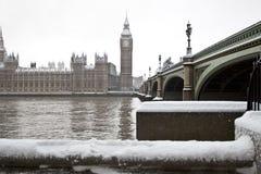 Sneeuw in Londen Royalty-vrije Stock Foto's