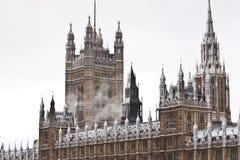 Sneeuw in Londen Stock Afbeelding