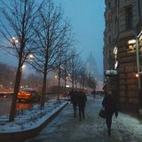 Sneeuw in Maart royalty-vrije stock foto