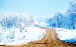 Sneeuw manier-wijd Stock Fotografie