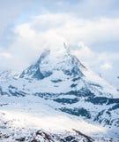 Sneeuw Mountain View van Matterhorn Stock Afbeeldingen
