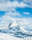 Sneeuw Mountain View van Matterhorn Royalty-vrije Stock Fotografie