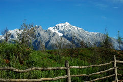 Sneeuw mountain2 royalty-vrije stock fotografie
