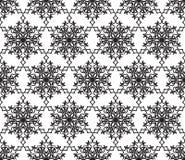 Sneeuw naadloos patroon Abstracte de winter sier geweven backg vector illustratie