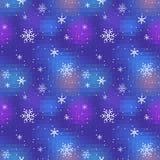 Sneeuw Naadloze Nacht Royalty-vrije Stock Foto's