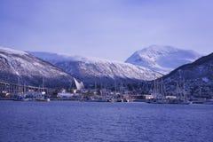 Sneeuw Noors landschap in Tromsø Royalty-vrije Stock Foto's