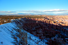 Sneeuw omvat Bryce Canyon National Park Royalty-vrije Stock Foto's