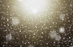 Sneeuw op donkere lichte achtergrond Royalty-vrije Stock Foto's