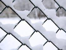 Sneeuw op netto Royalty-vrije Stock Afbeelding