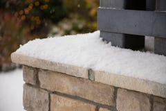 Sneeuw op Richel in Eugene Oregon stock fotografie