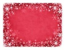 Sneeuw op Rode Textuur Royalty-vrije Stock Fotografie