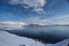 Sneeuw overzees landschap Royalty-vrije Stock Foto's