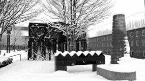 Sneeuw Pensionpark Stock Fotografie
