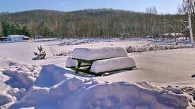 Sneeuw in Quebec Canada, Noord-Amerika Royalty-vrije Stock Fotografie
