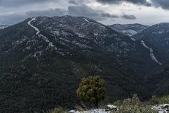 Sneeuw in Ronda Royalty-vrije Stock Fotografie