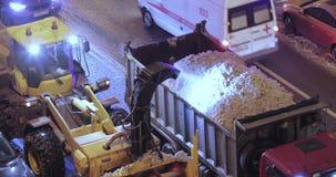 Sneeuw schoonmakende tractor stock videobeelden
