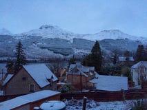 Sneeuw in Schotland Stock Afbeeldingen