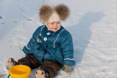 Sneeuw slechts, geen zand! Stock Foto's