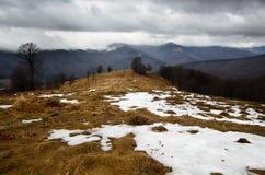 Sneeuw stormachtige bergen Royalty-vrije Stock Foto