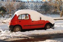Sneeuw straat, st.Leonards-op-Overzees Stock Fotografie