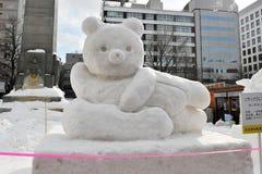 Sneeuw Sulpture Stock Afbeelding