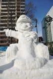 Sneeuw Sulpture Stock Afbeeldingen