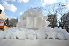 Sneeuw Sulpture Stock Foto's