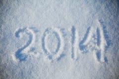 Sneeuw 2014 textuur abstracte achtergronden Stock Foto