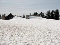 Sneeuw tot dak Stock Afbeeldingen