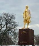 Sneeuw Verbeterd Alexander Hamilton Monument royalty-vrije stock foto's
